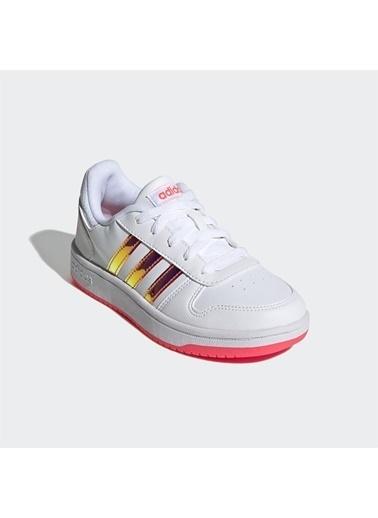 adidas Adidas Çocuk Basketbol Ayakkabısı Hoops 2.0 K Fw7616 Beyaz
